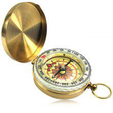 Outdoor Copper Compass with Cover for Hiking