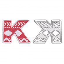 Delicate DIY Capital Letter K Style Cutting Die
