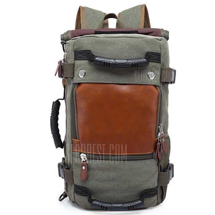 Gearbest KAKA Large Capacity Chic Canvas Backpack - CAMOUFLAGE GREEN