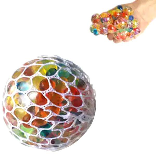 Squishy Mesh Stress Reliever Ball Squeeze Toy - MULTI