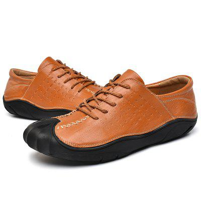 Fashion Breathable Casual Leather Shoes for Men cie round toe mackay blake custom handmade calf genuine leather outsole breathable men s casual oxfords color purple shoe ox519