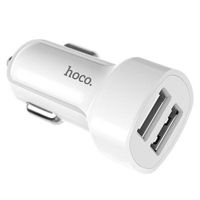 HOCO Dual USB Ports Car Charger аккумулятор hoco j10 10000mah pyramid