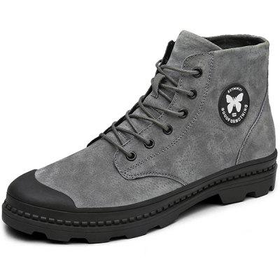 Men Stylish Street Anti-slip Leather Boots