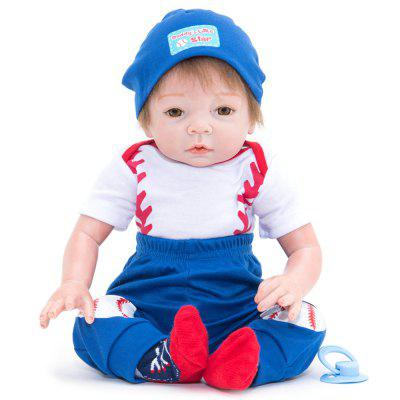 384 Simulation Cartoon Baby Silicone Reborn Doll vivid silicone reborn dolls with cloths cute 20 inch 50 cm lifelike baby reborn doll toys for children present