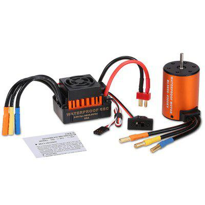 Waterproof 3650 4300KV Motor + 60A ESC for RC Drone waterproof 60a esc f540 10t 3930kv brushless motor fits for 1 10 drift rc car racing bm88