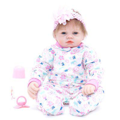 441 Cartoon Baby Girl Reborn Doll Silicone Sleeping Toy vivid silicone reborn dolls with cloths cute 20 inch 50 cm lifelike baby reborn doll toys for children present
