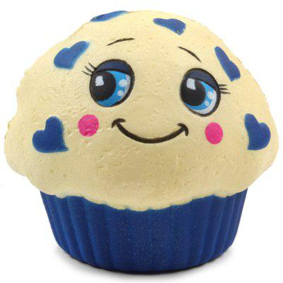 M008 PU Imitation Expression Cake Squishy Toy Gift