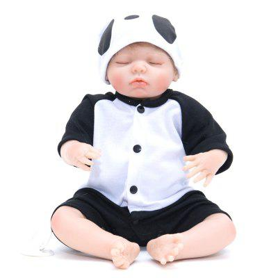 387 Simulation Cartoon Baby Silicone Reborn Doll vivid silicone reborn dolls with cloths cute 20 inch 50 cm lifelike baby reborn doll toys for children present