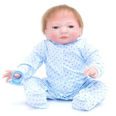 383 Simulation Cartoon Baby Silicone Reborn Doll vivid silicone reborn dolls with cloths cute 20 inch 50 cm lifelike baby reborn doll toys for children present