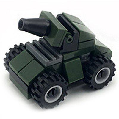 DIY Mini Assault Vehicle Style Military Construction Toy Car Building Blocks for Kids Toddlers