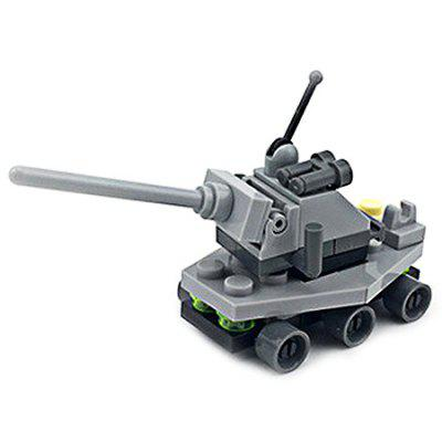 DIY Mini Tank Style Military Construction Toy Car Building Blocks for Kids Toddlers