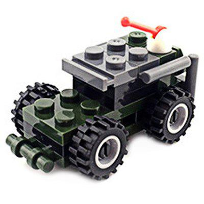 DIY Mini Thunder Scout Car Style Military Construction Toy Building Blocks for Kids Toddlers diy toys military army building blocks defensive wall action figures enlighten toy for children city