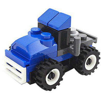 DIY Mini Blue Toy Car Building Blocks for Kids Toddlers Boys