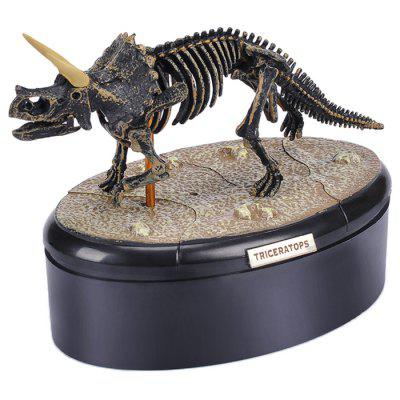 4D Zostavená Dinosaur Fosil Skeleton Model Toy