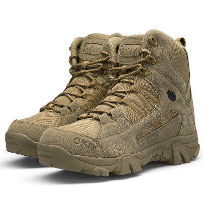 Gearbest High-top Men Wear-resistant Sports Boots - OAK BROWN 45