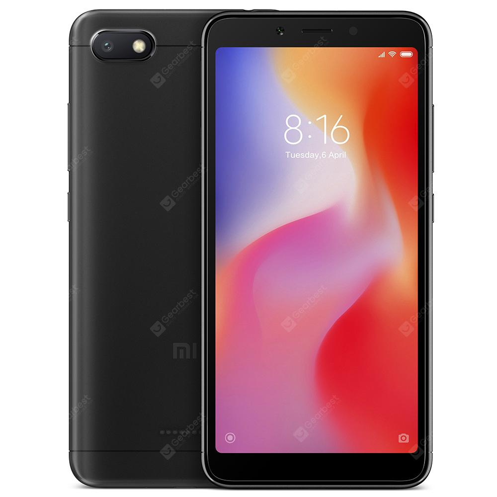 Gearbest Xiaomi Redmi 6A 4G Smartphone Global Version - BLACK 2GB RAM 32GB ROM 13.0MP Rear Camera