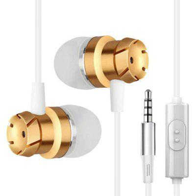 Wired Subwoofer In-ear Earphones with Mic awei a860bl sport bluetooth earphones with mic gold