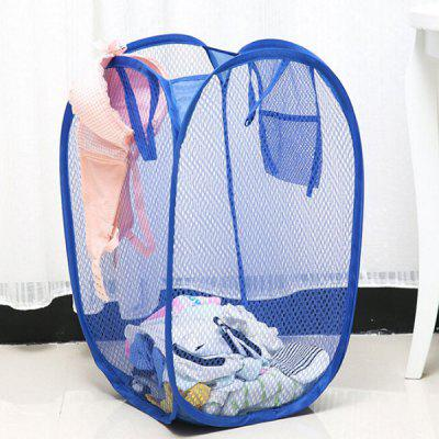 Foldable Color Net Style Large Storage Basket for Clothes