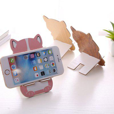 Creative Cartoon Style Wooden Phone Holder creative wave style pp lid rack mount holder green