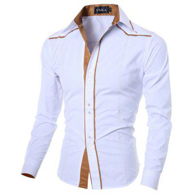 Fashion Slim-Fit Herren Langarm Hemd