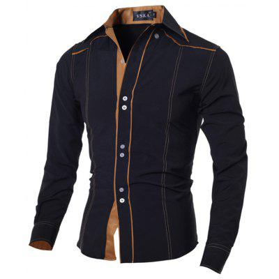 Fashion Slim-fit Male Long-sleeved Shirt