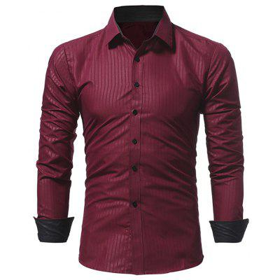 Men Casual Slim Long Sleeve Shirt