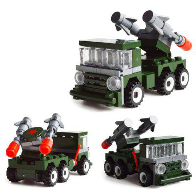 DIY Child Puzzle Military Patriot Missile Assembled Building Blocks enlighten military educational building blocks toys for children gifts army cars assassin sniper gun world war hero weapon
