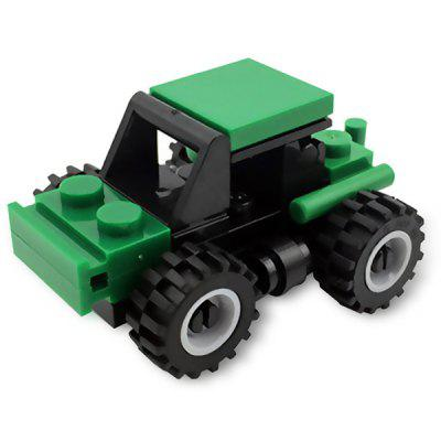DIY Mini Green Toy Car Building Blocks for Kids Toddlers Boys
