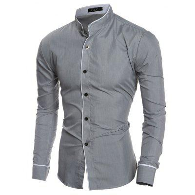 Men Classic Long Sleeve Button Down Shirt