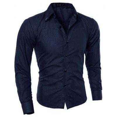 Image result for Men Stylish Slim Print Long Sleeve Shirt gearbest
