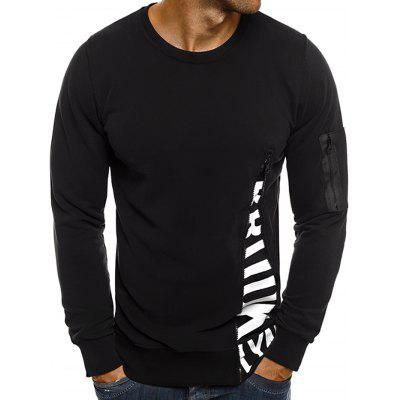 Men Fashion Letter Print Long Sleeve T-Shirt