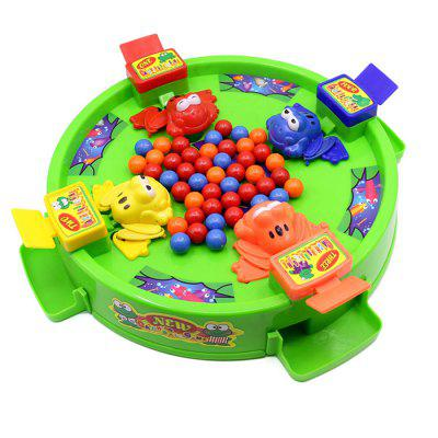 Baby Educational Frog Eating Peas Toy Desktop Game