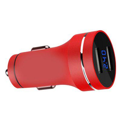 Portas USB duplas LED Car Charger Display