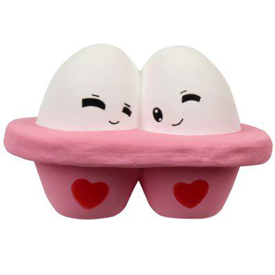 M023 Jumbo Squishy Cartoon Oeuf Modèle PU Slow Rising Jouet
