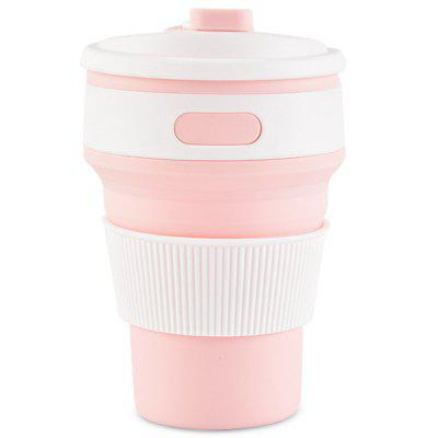 350ml Collapsible Silicone Water Bottle Portable Mug Travel Drinkware usb rechargeable 500ml healthy portable hydrogen rich water cup transparent glass bottle with lid