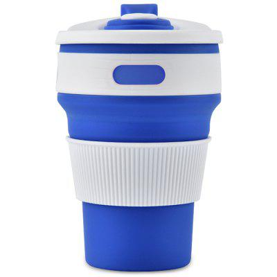 350ml Collapsible Silicone Water Bottle Portable Mug Travel Drinkware