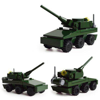 DIY Tank Style Military Construction Toy Car Building Blocks for Kids Toddlers diy toys military army building blocks defensive wall action figures enlighten toy for children city