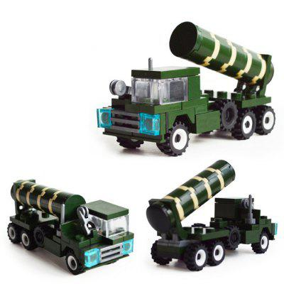 DIY Missile Vehicle Style Military Construction Toy Car Building Blocks for Kids Toddlers diy toys military army building blocks defensive wall action figures enlighten toy for children city