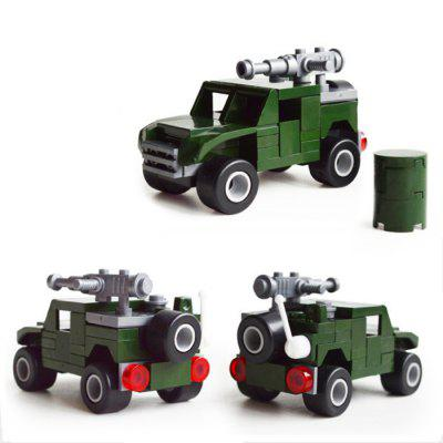 DIY Hummer Vehicle Style Military Construction Toy Car Building Blocks for Kids Toddlers diy toys military army building blocks defensive wall action figures enlighten toy for children city