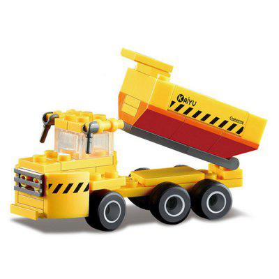 DIY Dump Truck Style Construction Toy Car Building Blocks for Kids Toddlers 40pcs railway track overpass blocks wooden structures urban railway track kids baby education traffic blocks toy