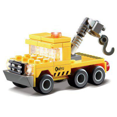 DIY Rescue Vehicle Style Construction Toy Car Building Blocks for Kids Toddlers 8052 kazi 300pcs fire station building bricks blocks sets christmas toys for children compatible lepine city firefighter rescue