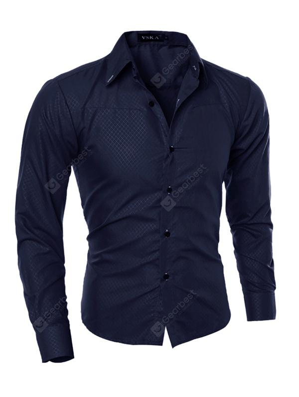 Men's Stylish Slim Print Long Sleeve Shirt