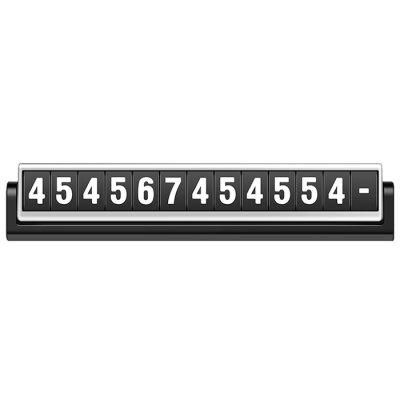 ACCNIC Car Parking Card Sticker Luminous Phone Number Plate