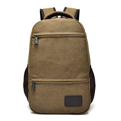 Outdoor Casual Large Capacity Canvas Backpack ziqiao 306 stylish casual zippered canvas backpack for laptop computer khaki