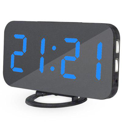 LED Digital Adjustable Alarm Table Clock ey products e my creative wood table clock khaki 1 x aa