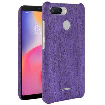 Luanke Wood Grain Phone Back Case dla Xiaomi Redmi 6
