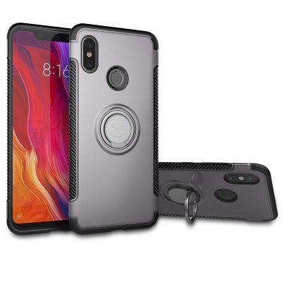 Luanke Anti Dust Ring Stand Phone Back Case para Xiaomi Mi 8