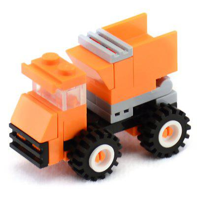 34 PCS DIY Dump Truck Building Blocks Educational Toys for Kids wange building blocks 625pcs diy creative special bricks toys for children educational toys compatible with major brand brinqued