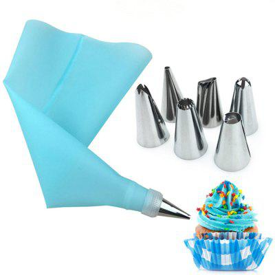 8 Pieces Cake Tools 6 Head Stainless Steel Mounted Silicone