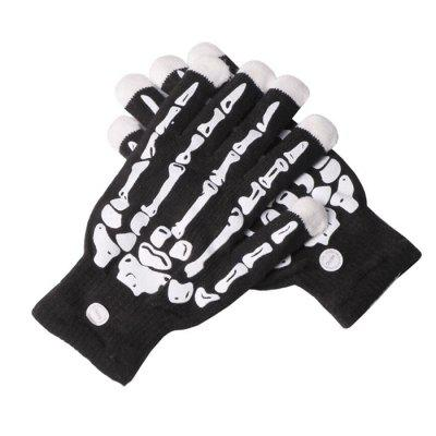 Skull Pattern LED Glowing Gloves